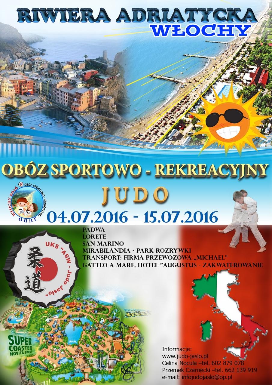 Ważna informacja dotycząca obozu sportowego – Włochy 2016 !!