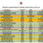 Kalendarz współzawodnictwa Polskiego Związku Judo na rok 2016