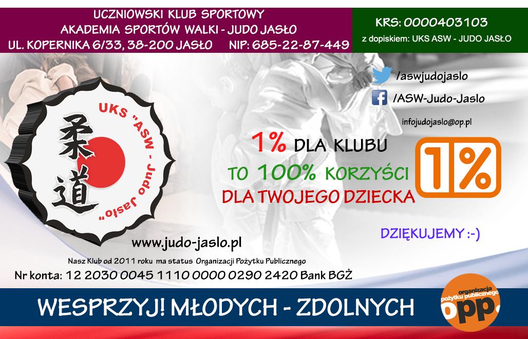 1% Podatku dla UKS ASW - JUDO JASŁO