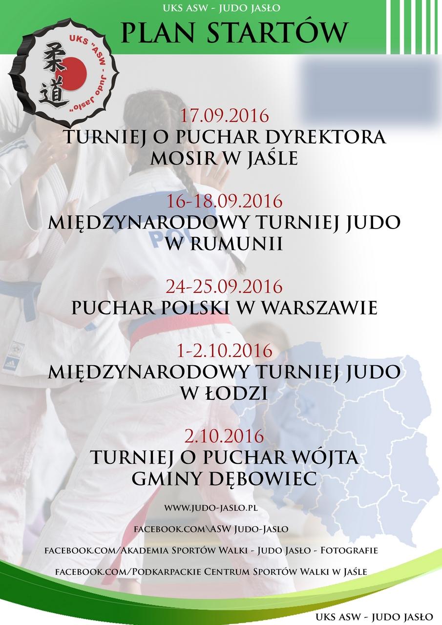 Plany startów UKS ASW - JUDO JASŁO