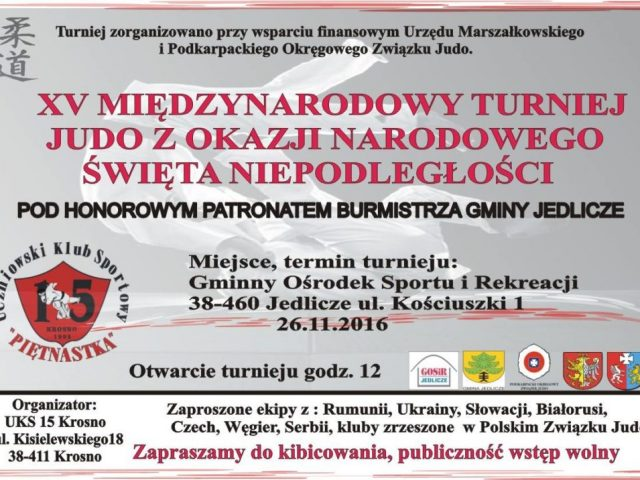 Turniej w Jedliczu 26.11.2016 – ważne!!!