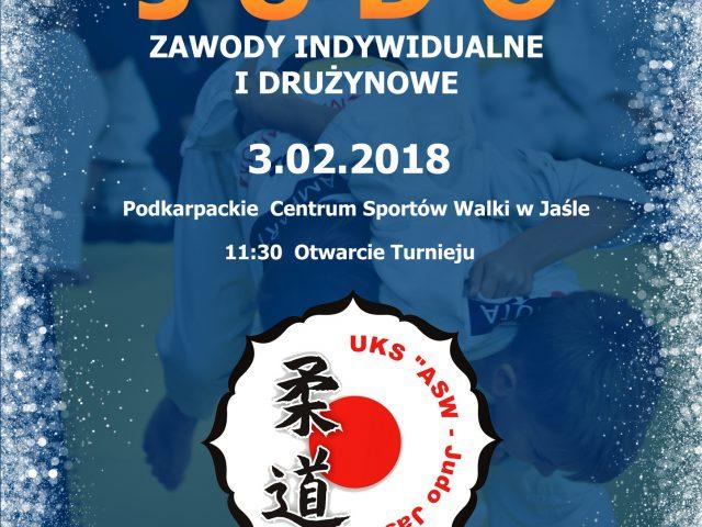 FERYJNY TURNIEJ JUDO – ZAWODY INDYWIDUALNE I DRUŻYNOWE 3.02.2018