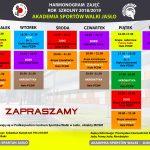 Harmonogram zajęć – rok szkolny 2018/2019